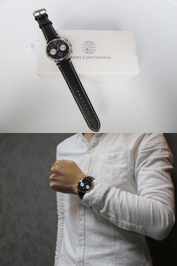 トランスコンチネンツ TRANS CONTINENTS 腕時計 メンズ 40mm TC-HE-004-2