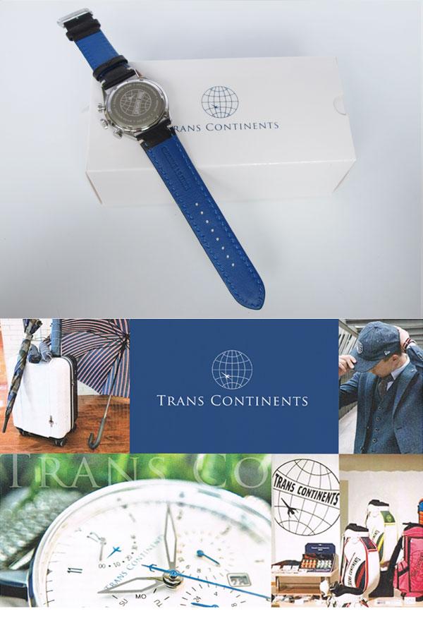 トランスコンチネンツ TRANS CONTINENTS 腕時計 メンズ 40mm TC-HE-004-3