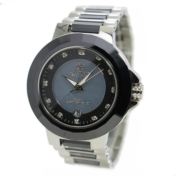 ジョンハリソン ソーラー 電波時計 メンズ 腕時計 JH-028SB グレー×シルバー-2