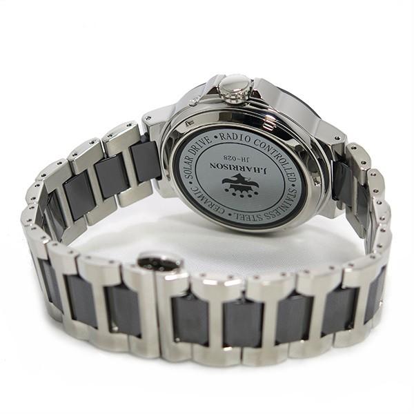 ジョンハリソン ソーラー 電波時計 メンズ 腕時計 JH-028SB グレー×シルバー-3
