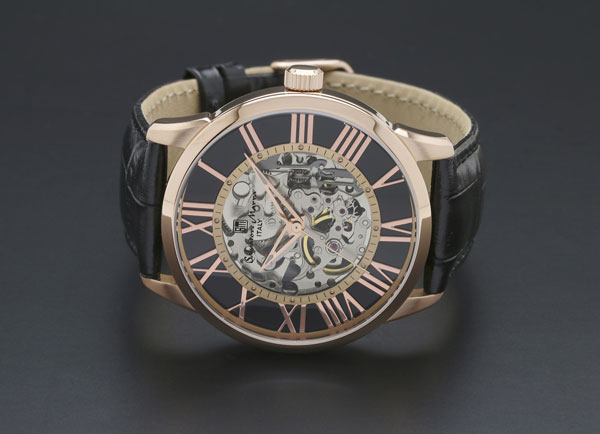 サルバトーレマーラ 手巻き メンズ 腕時計 SM16101-PGBK-2