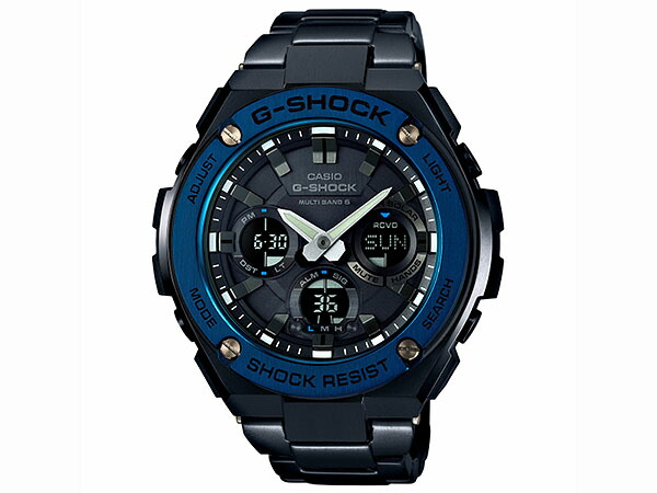 カシオ Gショック G-SHOCK Gスチール 電波ソーラー メンズ 腕時計 GST-W110BD-1A2JF 国内正規品-1