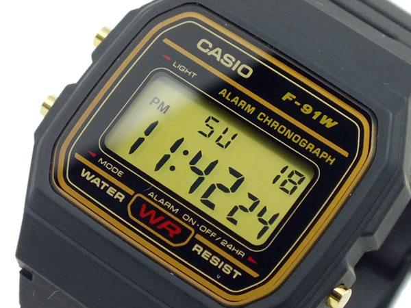 カシオ CASIO スタンダード デジタルクォーツ 腕時計 F-91WG-9-1