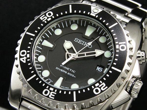 セイコー SEIKO キネティック KINETIC 腕時計 ダイバー SKA371P1-1