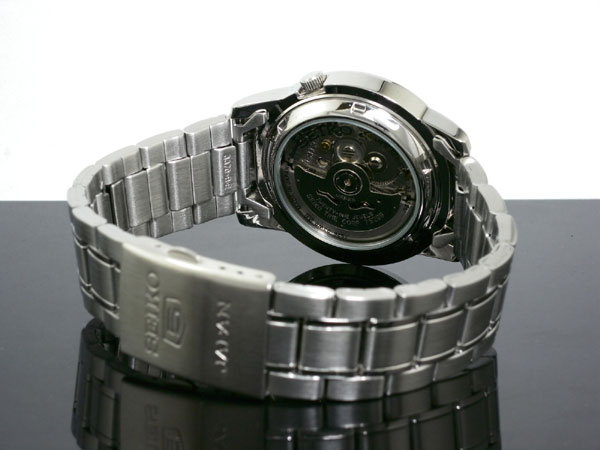 SEIKO 5 セイコー5 逆輸入 日本製 自動巻き メンズ 腕時計 SNKE49J1 ホワイト×シルバー メタルベルト-3
