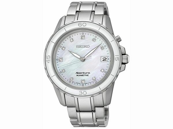 セイコー SEIKO キネティック スポーチュラ ダイヤ 腕時計 レディース SKA881P1-1