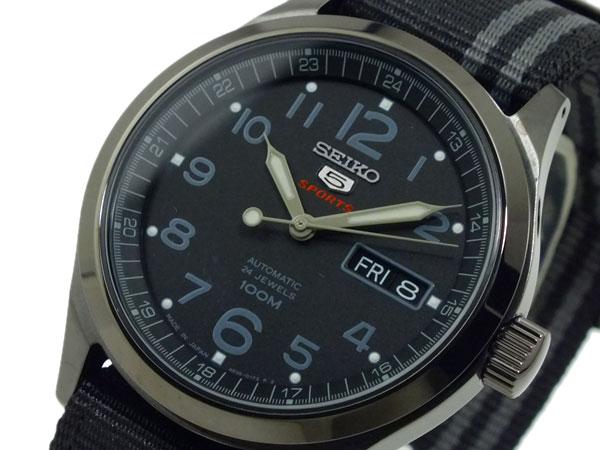 セイコー ファイブ SEIKO 5 スポーツ SPORTS 自動巻き 腕時計 SRP277J1 ブラック-1