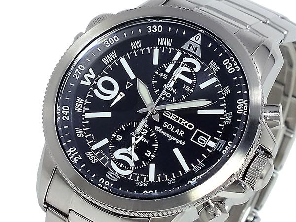 セイコー SEIKO SOLAR クロノグラフ 腕時計 SSC075P1-1