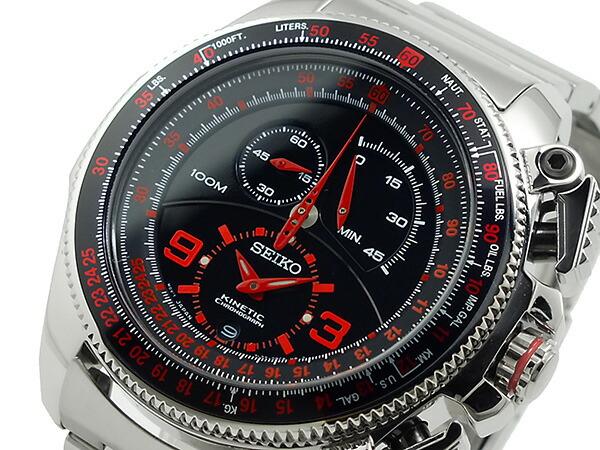 セイコー キネティック クロノグラフ リミテッドエディション 腕時計 SNL067-1