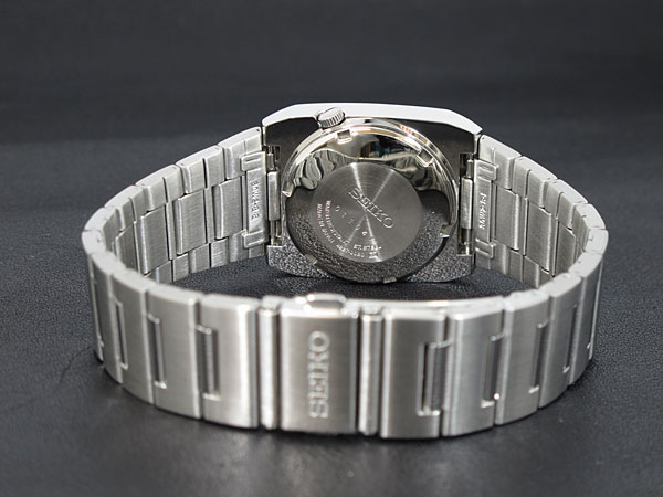SEIKO 5 セイコー5 逆輸入 ドレス DRESS 日本製 自動巻き メンズ 腕時計 SNY011J1 ブラック×シルバー メタルベルト-3