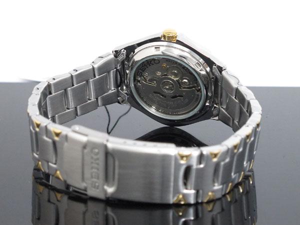 セイコー SEIKO 5 SPORTS 逆輸入 日本製 自動巻き メンズ 腕時計 SNZ458J1 ブルー×シルバー メタルベルト-3