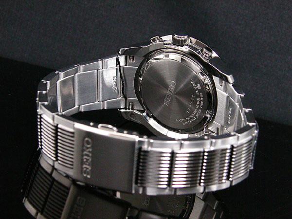 セイコー SEIKO 逆輸入 クロノグラフ アラーム メンズ 腕時計 SNAB19P1 ブラック×シルバー メタルベルト-3