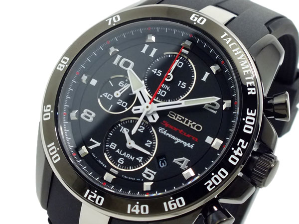 セイコー SEIKO スポーチュラ クロノグラフ 腕時計 SNAE89P1 ブラック-1