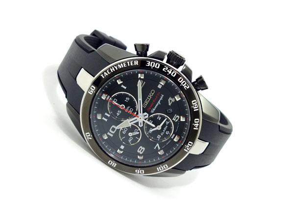 セイコー SEIKO スポーチュラ クロノグラフ 腕時計 SNAE89P1 ブラック-2