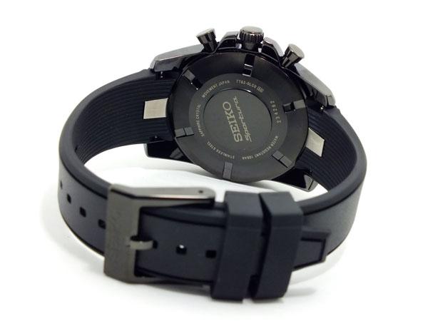 セイコー SEIKO スポーチュラ クロノグラフ 腕時計 SNAE89P1 ブラック-3
