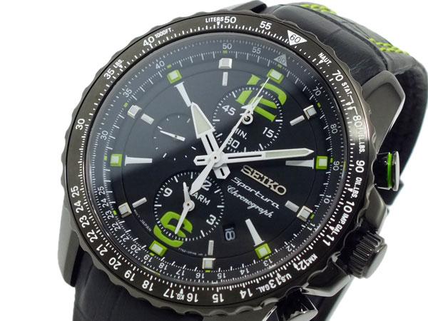 セイコー SEIKO スポーチュラ クロノグラフ 腕時計 SNAE97P1 ブラック-1