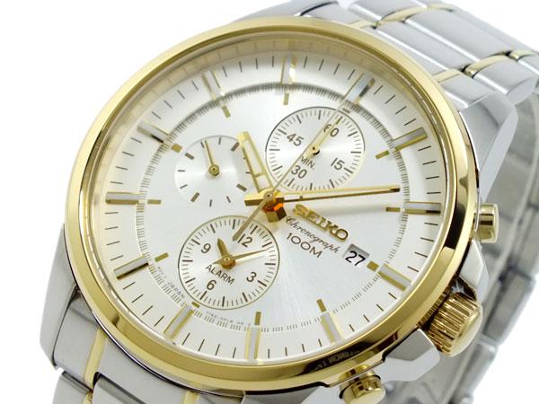 セイコー SEIKO クロノグラフ アラーム 腕時計 SNAF06P1-1
