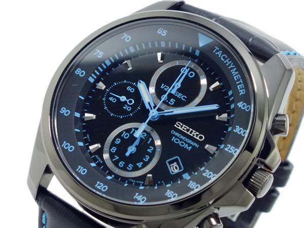 セイコー SEIKO クロノグラフ 腕時計 SNDD71P1 ブラック&ブルー-1