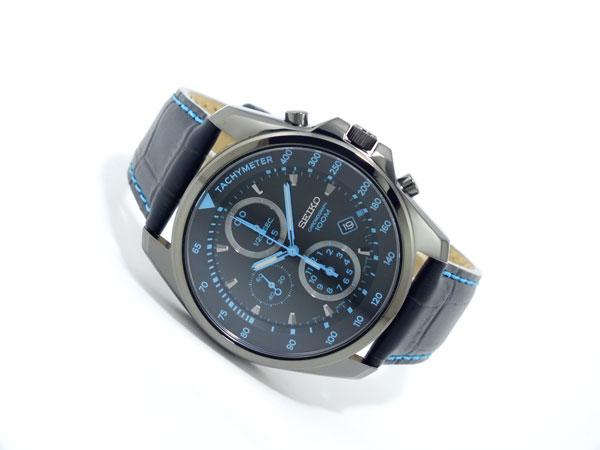 セイコー SEIKO クロノグラフ 腕時計 SNDD71P1 ブラック&ブルー-2
