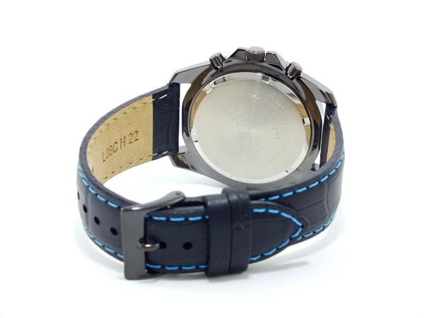 セイコー SEIKO クロノグラフ 腕時計 SNDD71P1 ブラック&ブルー-3