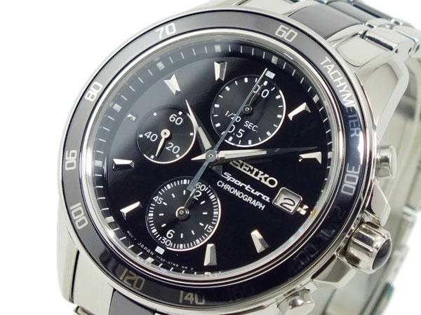 セイコー SEIKO スポーチュラ クロノグラフ セラミック 腕時計 SNDX97P1-1