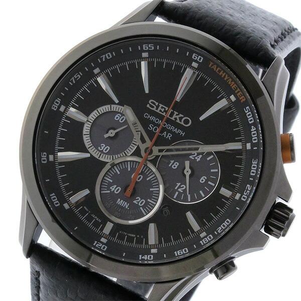 セイコー SEIKO 逆輸入 ソーラー クロノグラフ 腕時計 SSC499P1-1