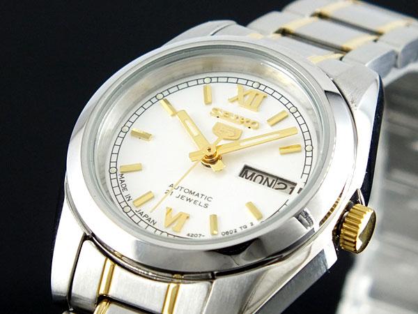 SEIKO 5 セイコー5 逆輸入 日本製 レディース 自動巻き 腕時計 SYMK29J1 シルバー ブレスレット-1