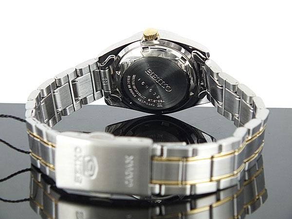 SEIKO 5 セイコー5 逆輸入 日本製 レディース 自動巻き 腕時計 SYMK29J1 シルバー ブレスレット-3