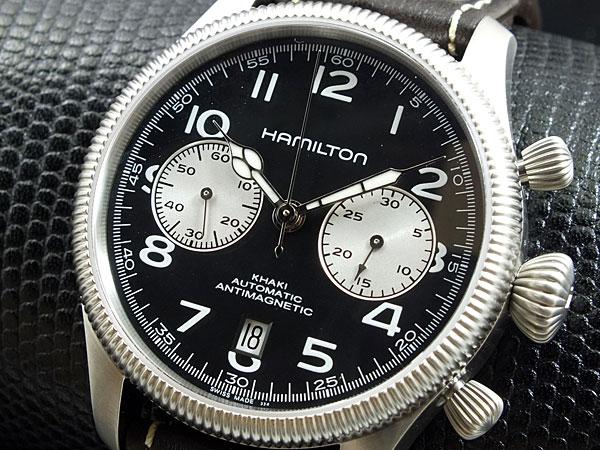 ハミルトン HAMILTON カーキ KHAKI コンサベーション 自動巻き スイス製 腕時計 H60416533 レザーベルト-1