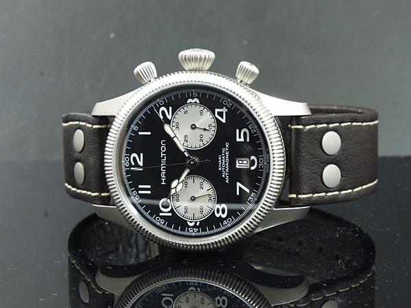 ハミルトン HAMILTON カーキ KHAKI コンサベーション 自動巻き スイス製 腕時計 H60416533 レザーベルト-2