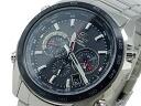 Casio CASIO edifice EDIFICE radio tough solar watch EQW-M600DB-1A black x silver metal belt