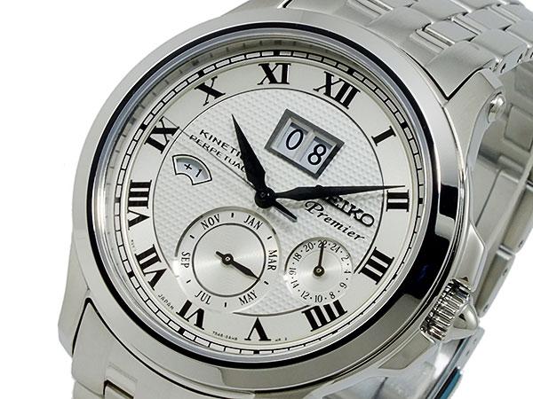 セイコー SEIKO プルミエ キネティック パーぺチュアル 腕時計 SNP039P1-1