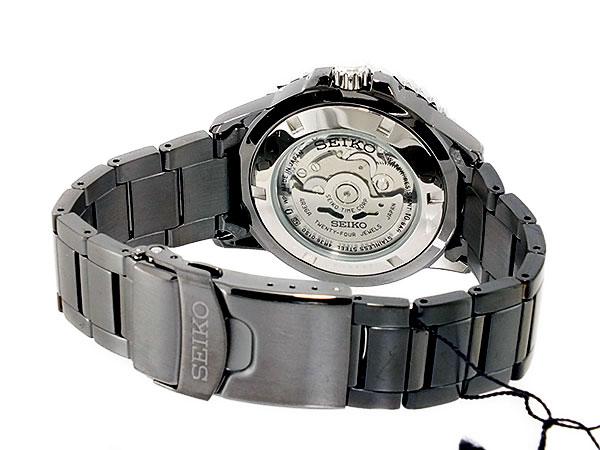 SEIKO 5 SPORTS スポーツ 逆輸入 自動巻き 日本製 メンズ 腕時計 SRP355J1 ブラック メタルベルト-3