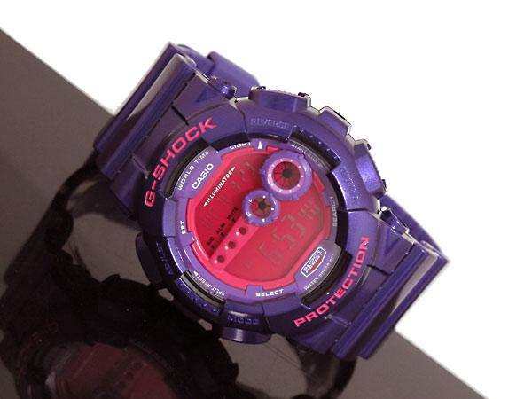 カシオ CASIO Gショック G-SHOCK 逆輸入 高輝度LED メンズ デジタル 腕時計 GD-100SC-6 パープル×ピンク-2