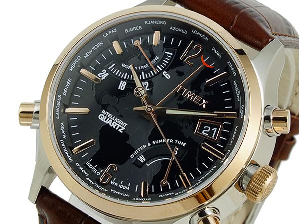 タイメックス TIMEX ワールドタイム インテリジェントクオーツ 腕時計 T2N942-1