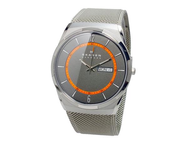 スカーゲン SKAGEN クオーツ メンズ 腕時計 SKW6007 グレー メッシュベルト-2