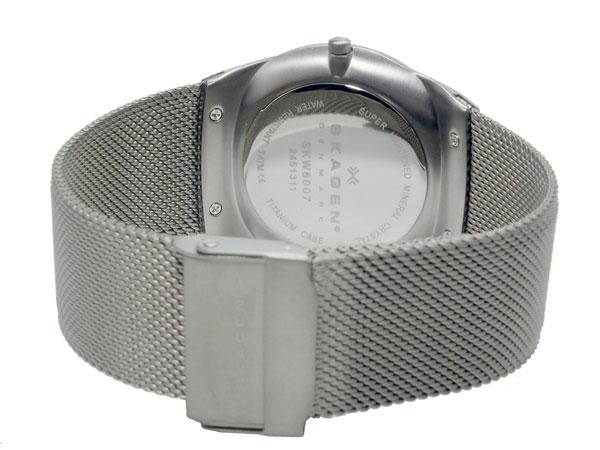 スカーゲン SKAGEN クオーツ メンズ 腕時計 SKW6007 グレー メッシュベルト-3