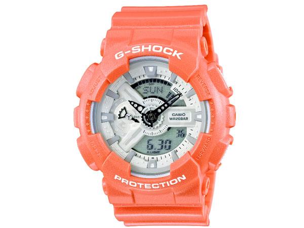 CASIO Gショック G-SHOCK マットメタリックシリーズ アナデジ 腕時計 GA-110SG-4A メンズ オレンジ ラバーベルト-1