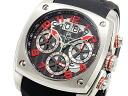 ドルチェメディオ DOLCE MEDIO chronograph watch DM12203-SSBKRD