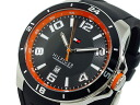 Tommy Hilfiger quartz analog watches men's 1790861 black × orange rubber belt