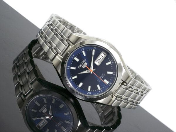 SEIKO 5 セイコー5 逆輸入 日本製 自動巻き メンズ 腕時計 SNKG21J1 ブルー×シルバー メタルベルト-2