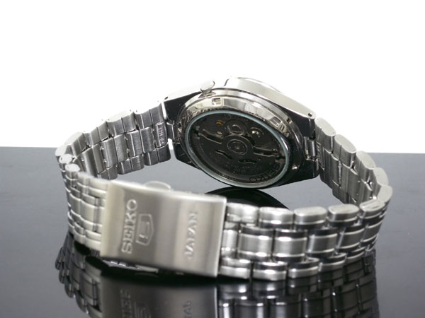 SEIKO 5 セイコー5 逆輸入 日本製 自動巻き メンズ 腕時計 SNKG21J1 ブルー×シルバー メタルベルト-3