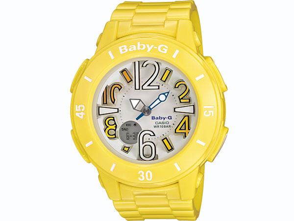 カシオ CASIO ベビーG Baby-G 腕時計 ネオン アナデジ BGA-170-9B レディース イエロー ラバーベルト-1