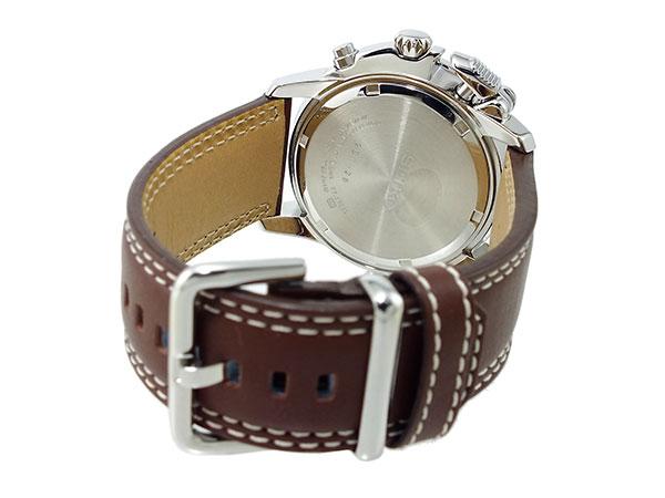 セイコー SEIKO パイロット 逆輸入 クロノグラフ アラーム メンズ 腕時計 SNAB71P1 メンズ ホワイト×ブラウン-3