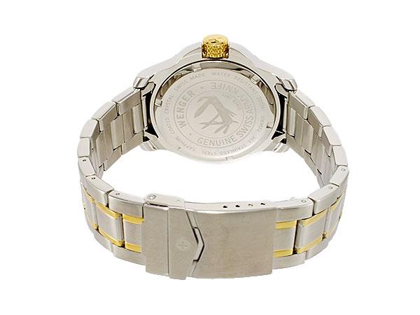 ウェンガー WENGER バタリオン ダイバーズ メンズ スイス製 腕時計 72346 ネイビーブルー×ゴールド×シルバー メタルベルト-3