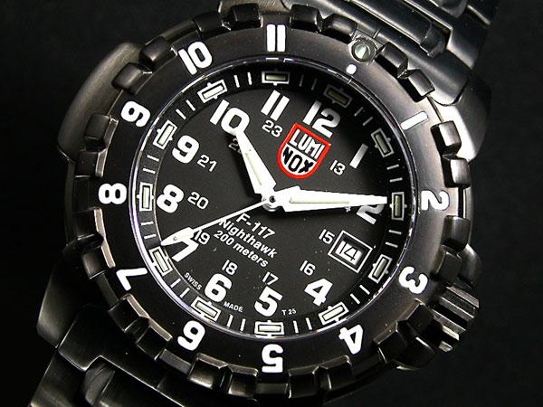 ルミノックス LUMINOX ロッキードコレクション F117 ナイトホーク メンズ 腕時計 6402 ブラック メタルベルト-1