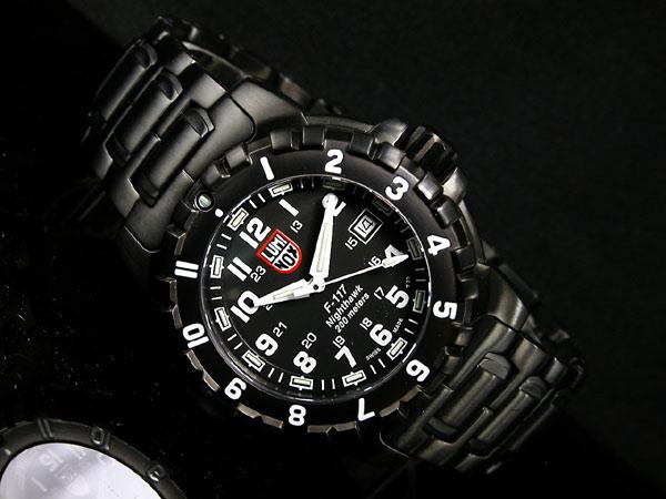 ルミノックス LUMINOX ロッキードコレクション F117 ナイトホーク メンズ 腕時計 6402 ブラック メタルベルト-2