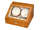 Four LUWH wooden watch winder / winding machine storing LU30004RW