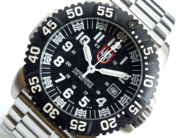 ルミノックス LUMINOX ネイビーシールズ ダイバーズ スイス製 3152 ブラック×シルバー メタルベルト-1