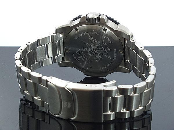 ルミノックス LUMINOX ネイビーシールズ ダイバーズ スイス製 3152 ブラック×シルバー メタルベルト-3